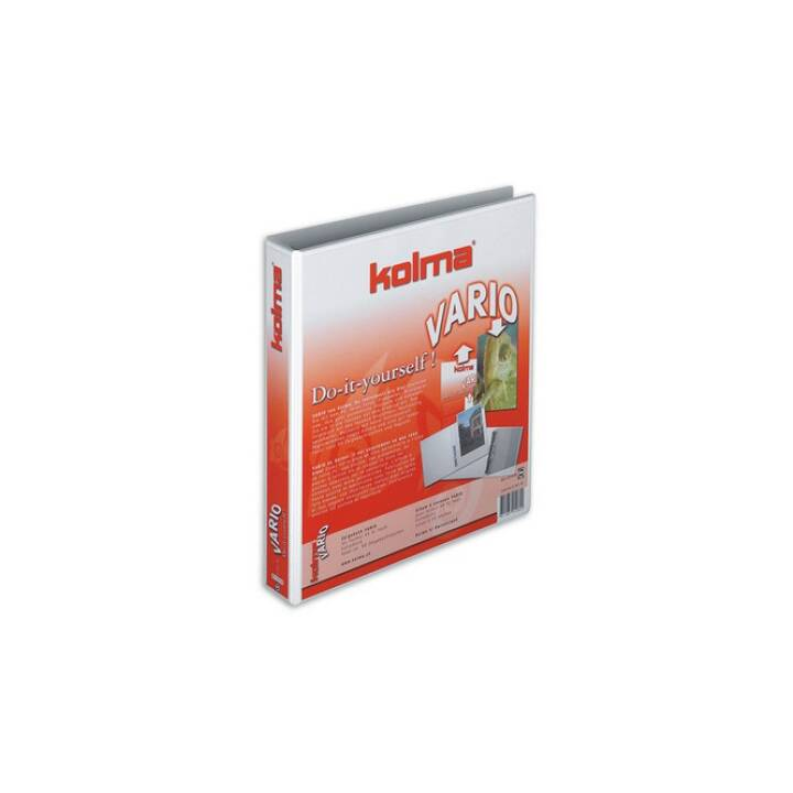 KOLMA RACER Showbook Vario XL Univ. A4 bianco 4-Ring 45 mm