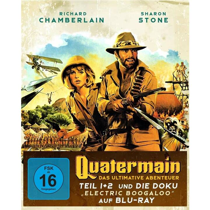 "Quatermain - Das ultimative Abenteuer - Teil 1 + 2 und die Doku Electric Boogaloo"""" (DE, EN)"