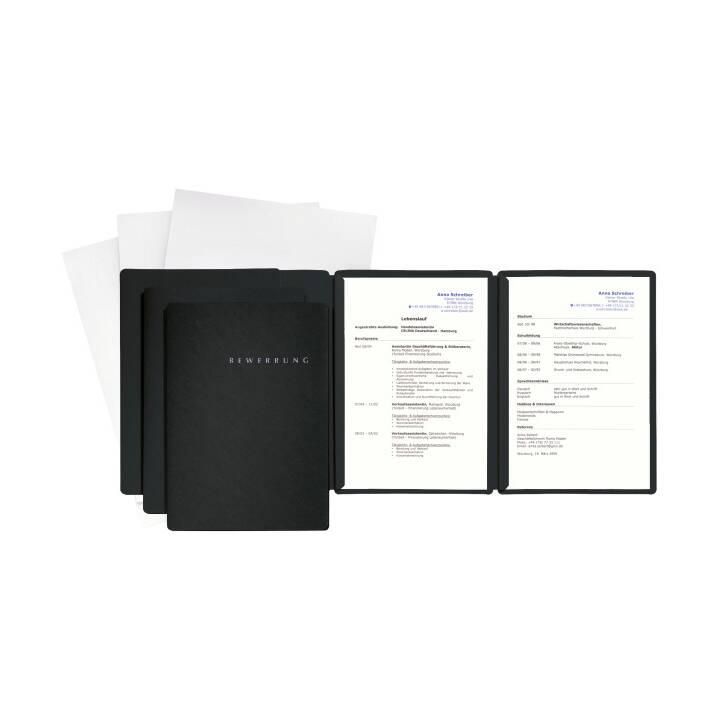 PAGNA Bewerbungsset Special A4 schwarz 3 Stück