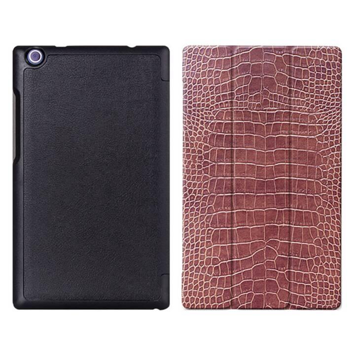 """EG MTT Tablet Tasche mit faltbarer Abdeckung für Lenovo Tab 2 Tab 3 8 """"- Snake Skin"""