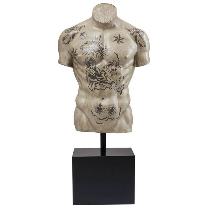 KARE Figura decorativa Torso Tattoo (Nero, Beige)