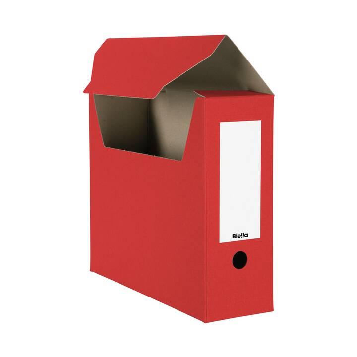 Scatola archivio BIELLA, A4, rosso, 10 pz.