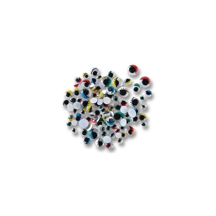 FOLIA Wackelaugen (Mehrfarbig, Kunststoff)