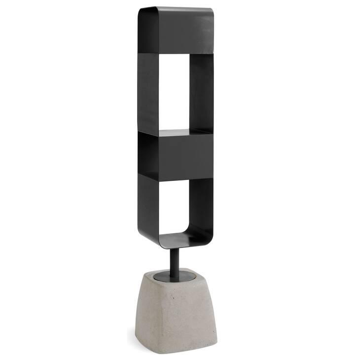 DOMITALIA Urban-B Regal (32 cm x 32 cm x 152 cm, Stahl, Zement)