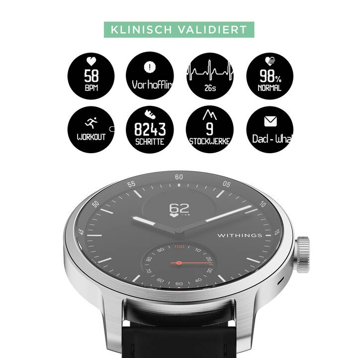 WITHINGS Scanwatch (42 mm, Black)