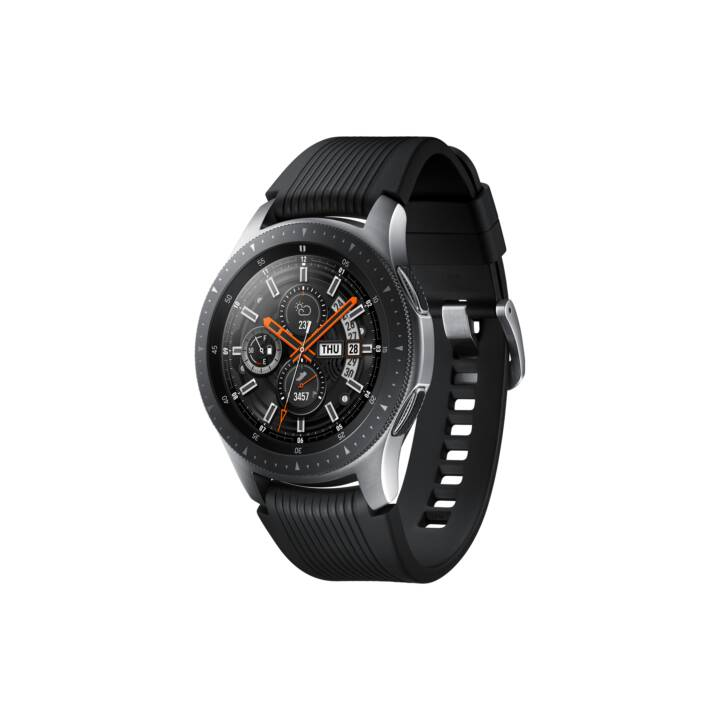 SAMSUNG Galaxy Watch Silver (46 mm, Acciaio Inox, Silicone)