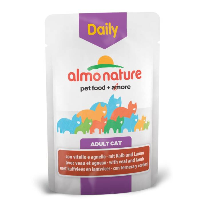 ALMO NATURE Daily (Adulto, 70 g, Vitello, Agnello)