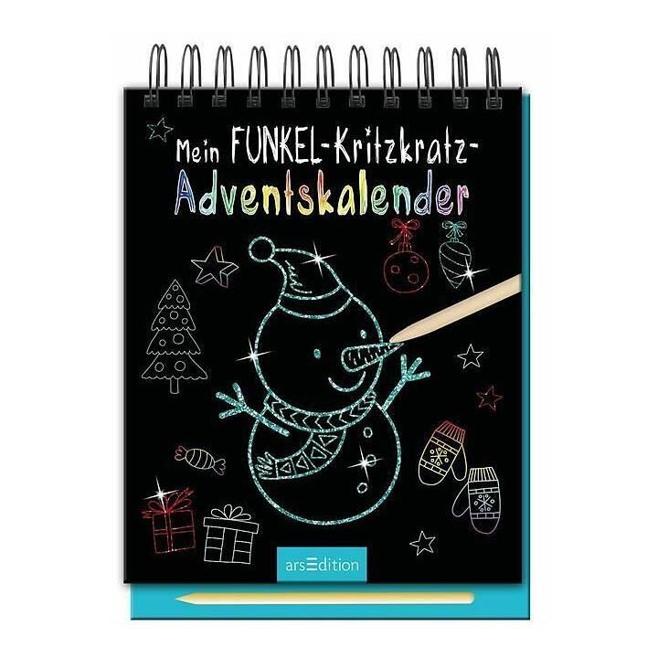 ARS EDITION Tabella Calendario dell'avvento (22.5 cm x 16.1 cm)