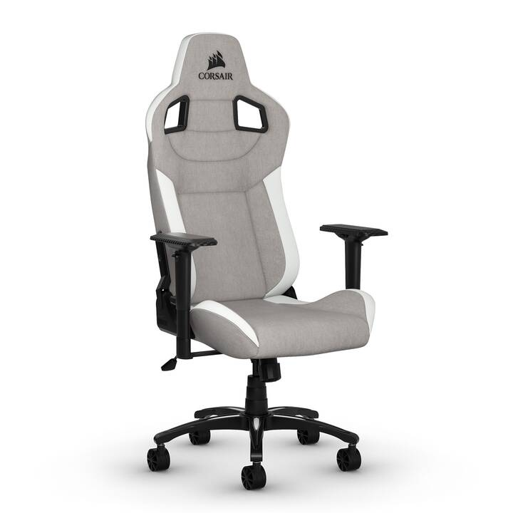 CORSAIR T3 RUSH Gaming Chaise (Gris, Blanc, Noir)