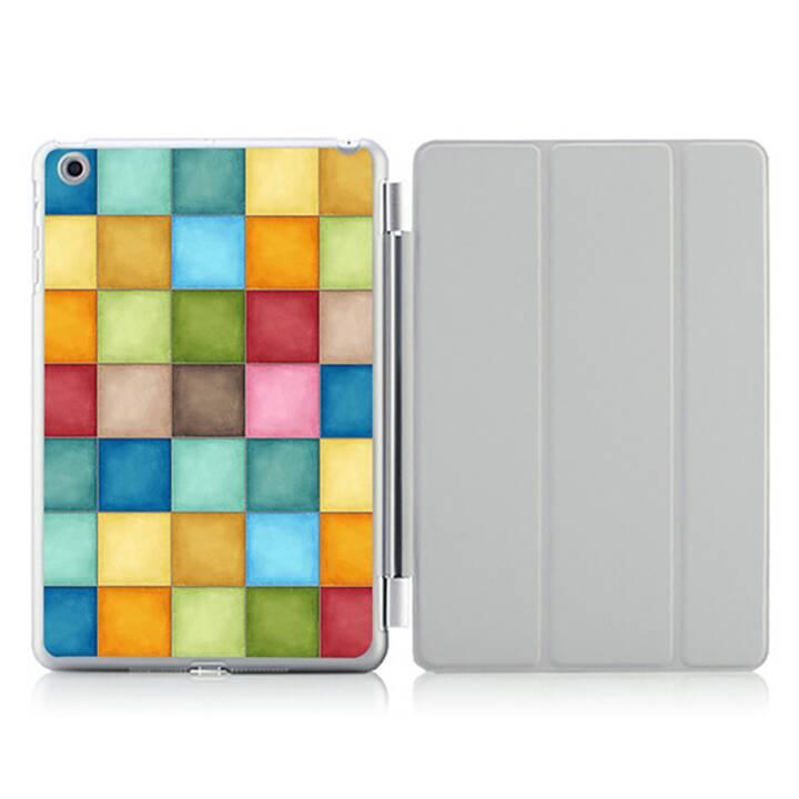"""EG iPad Hülle für Apple iPad 9.7 """"Air 2 - bunte Quadrate"""