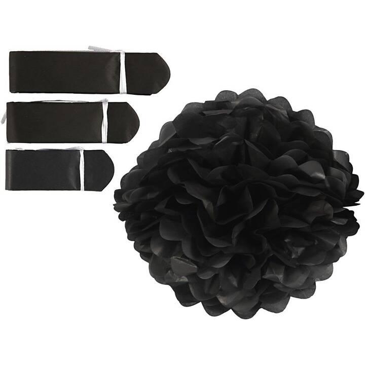 CREATIV COMPANY Pompons Noir