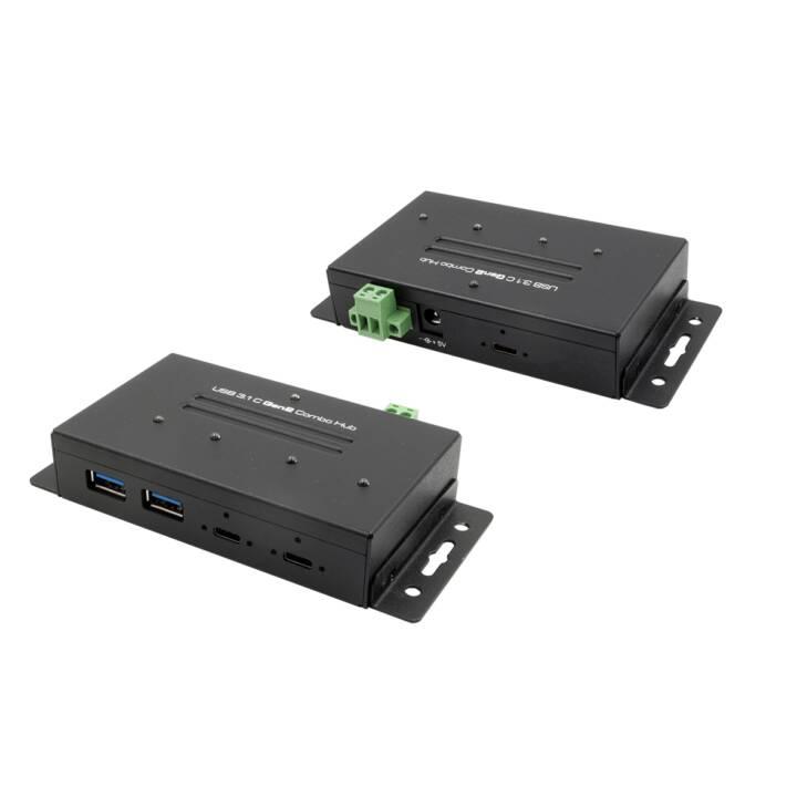 EXSYS EX-1240HMVS (4.0 Ports, USB Typ-A, USB Typ-C)