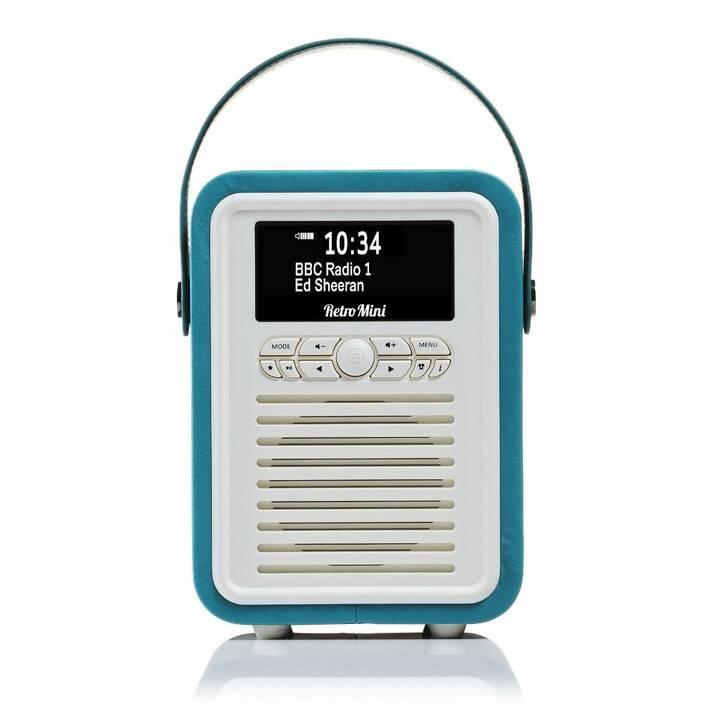 VIEW_QUEST Retro Mini Radio per cucina / -bagno (Blu elettrico)