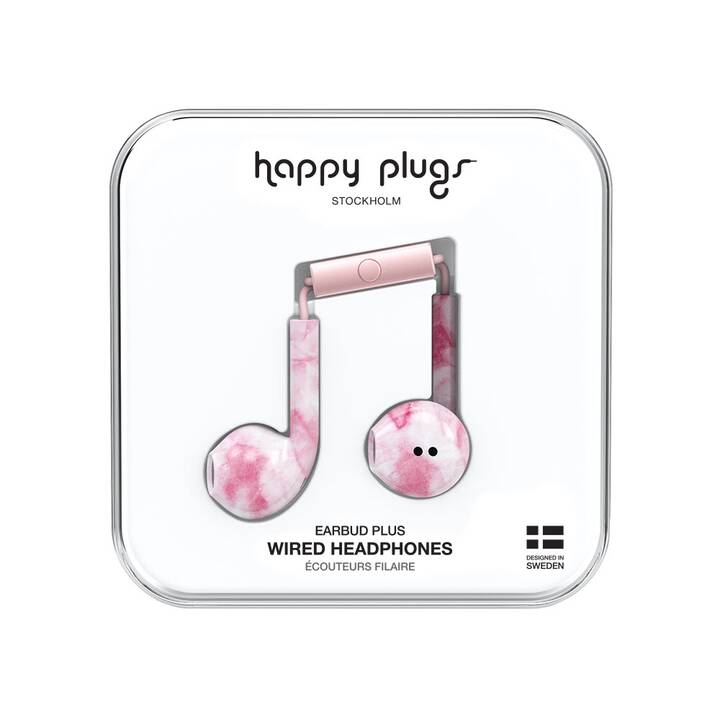 HAPPY PLUGS Pink Marble (Earbud, Pink)