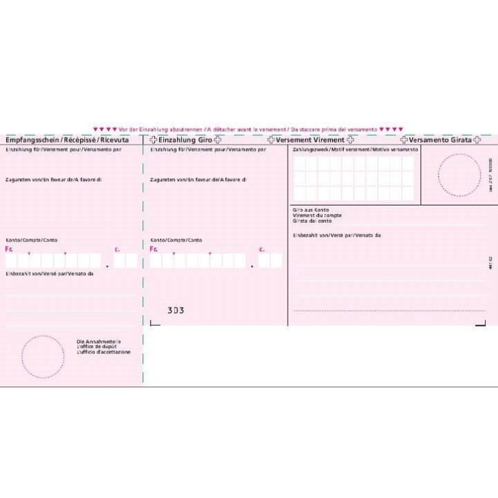 SIMPLEX Formulaire de facture avec bulletin de versement 500 x A4 Bank