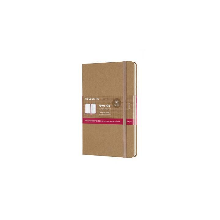 MOLESKINE Carnet de notes Two-Go 18,2x11,8cm marron, 144 pages