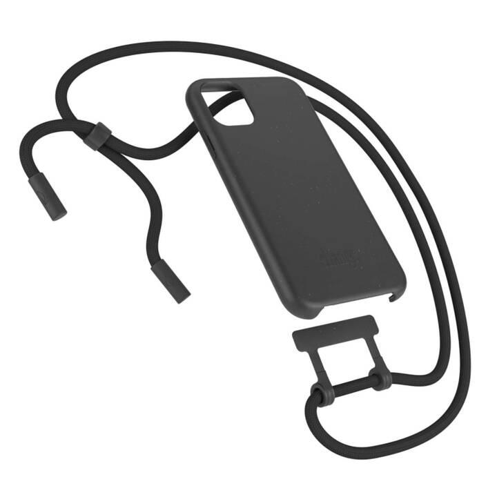 WOODCESSORIES Backcover con cordoncino Change Case (iPhone 11 Pro, Antibatterico, Nero)
