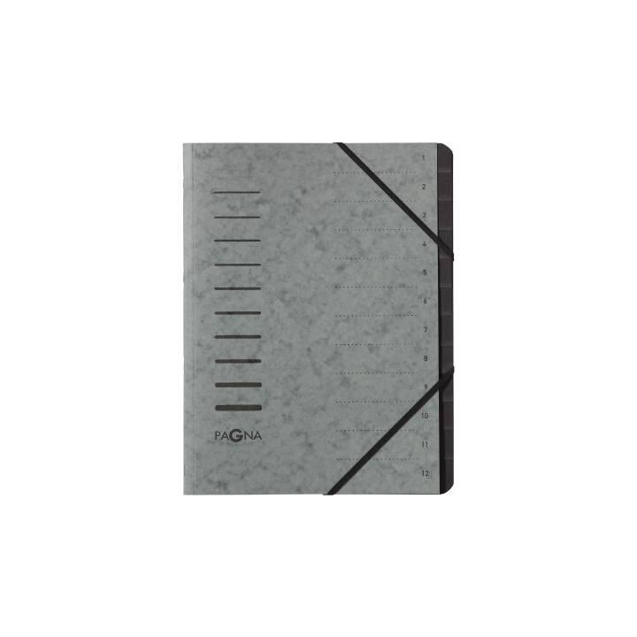 Cartella PAGNA grigio 12 pezzi