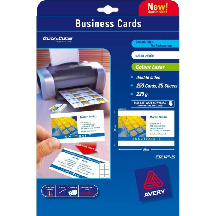 Cartes d'affaires AVERY Quick&Clean