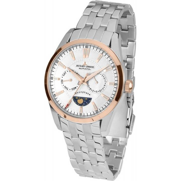 JACQUES LEMANS Liverpool (44 mm, Montre analogique, Quartz)