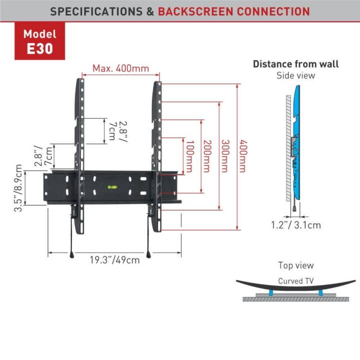 BARKAN MOUNTS TV-Halterung WH E30 (Wand)