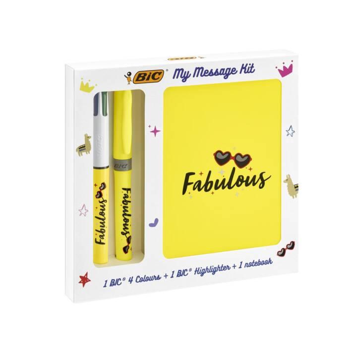 BIC Stylo à bille My Message Kit Fabulous Argent