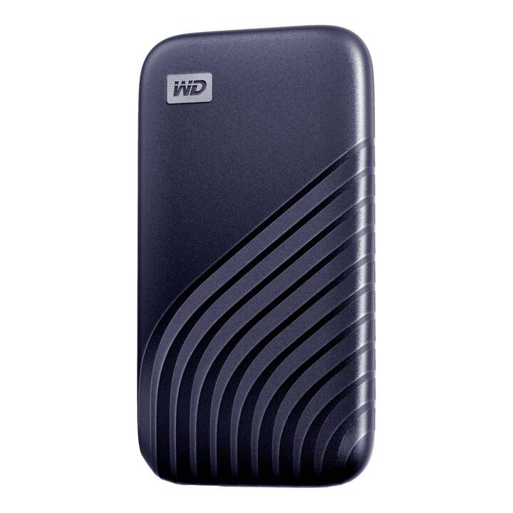 WD My Passport SSD (USB Type C, 500 GB, Bleu)