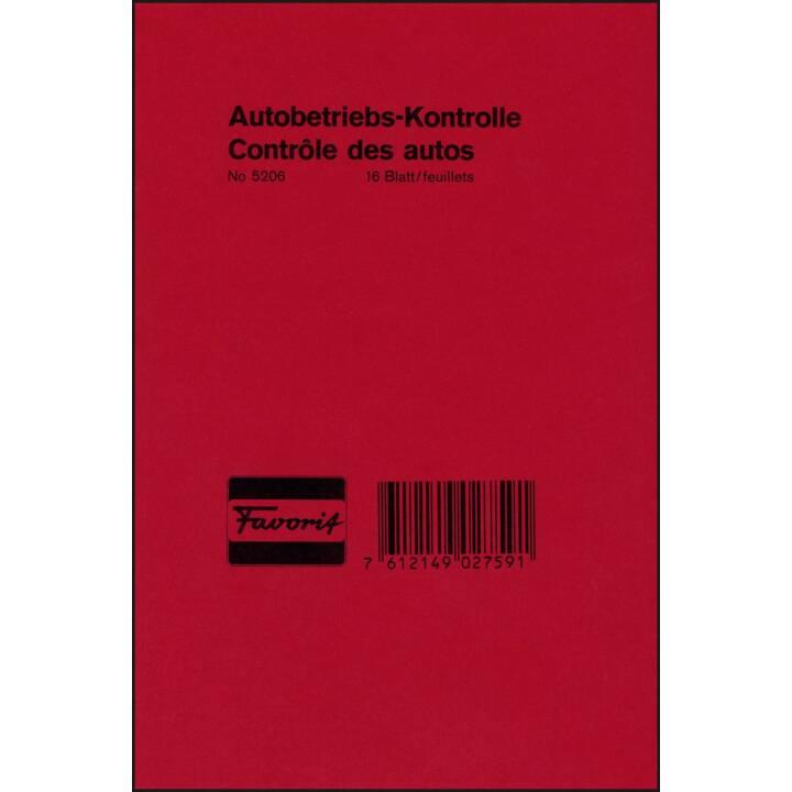 FAVORIT SPA business book car operation control, 16 feuilles