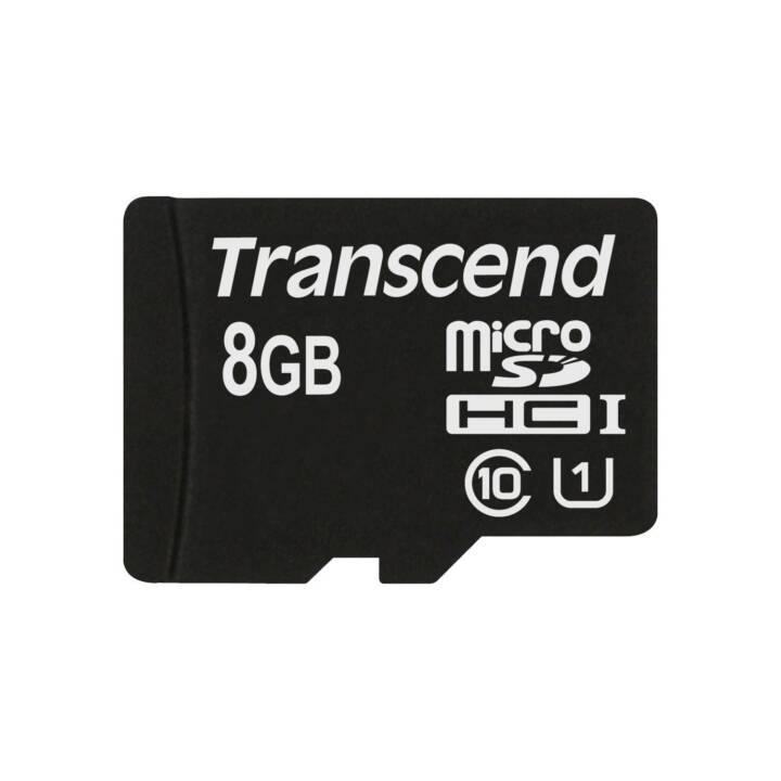 TRANSCEND MicroSDHC TS8GUSDCU1 (UHS-I Class 1, Class 10, 8 GB)