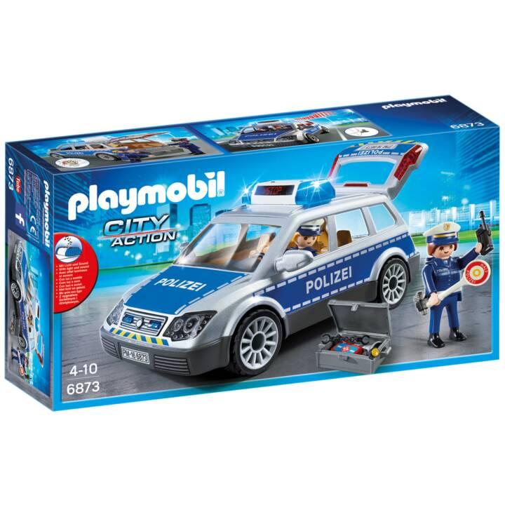 PLAYMOBIL City Action Voiture de policiers avec gyrophare et sirène (6873)