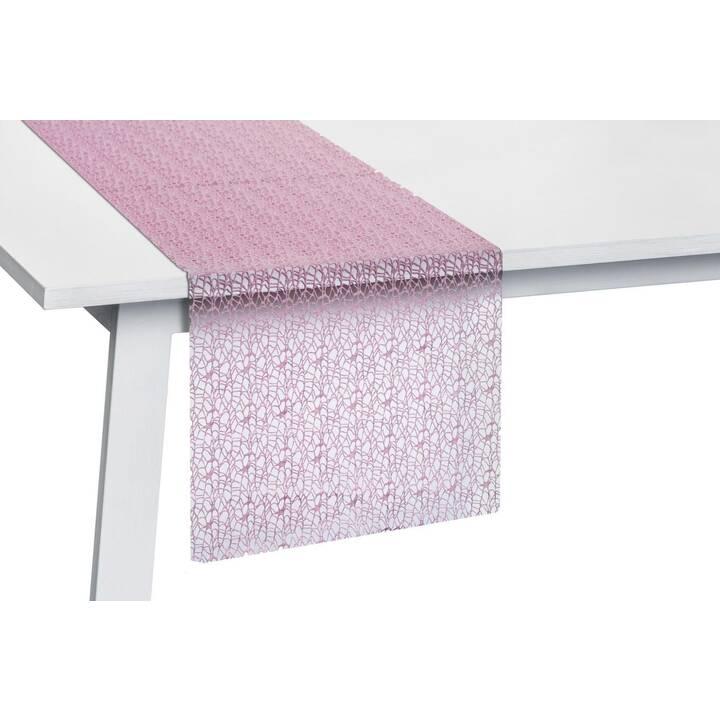 PICHLER Chemin de table Network Blossom (45 cm x 140 cm, Rectangulaire, Pink)