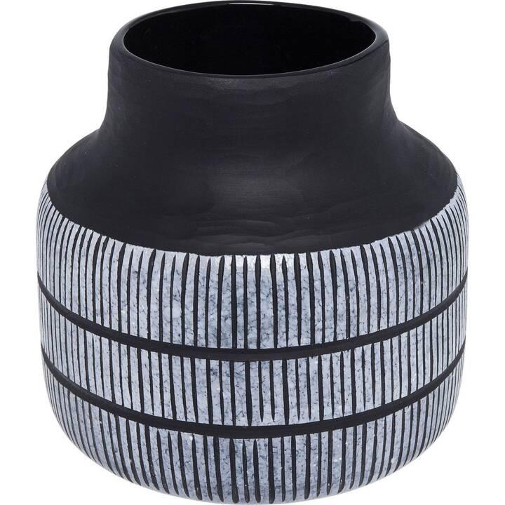 KARE Vase Africano (26 cm x 25.2 cm, Blanc, Noir)