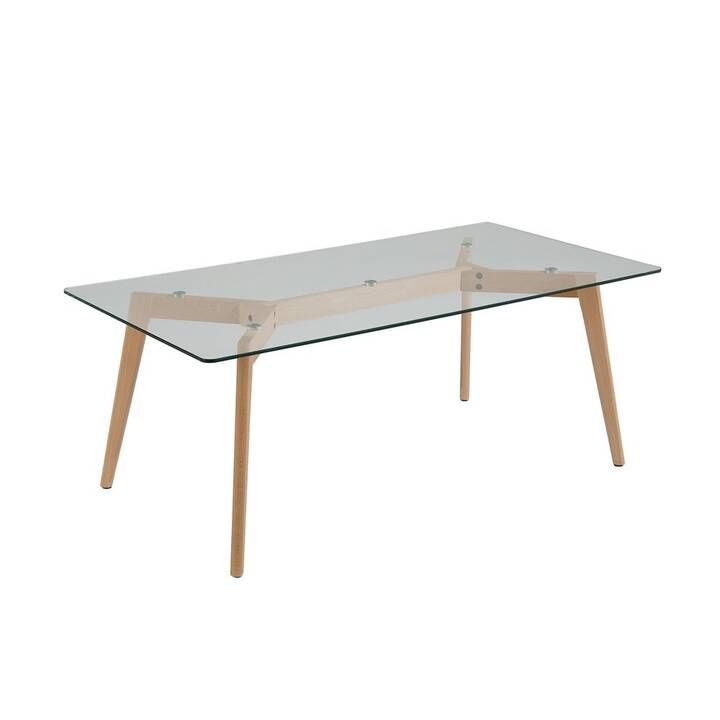 BELIANI Tavolino da salotto Hudson (46 cm, Transparente, Marrone)