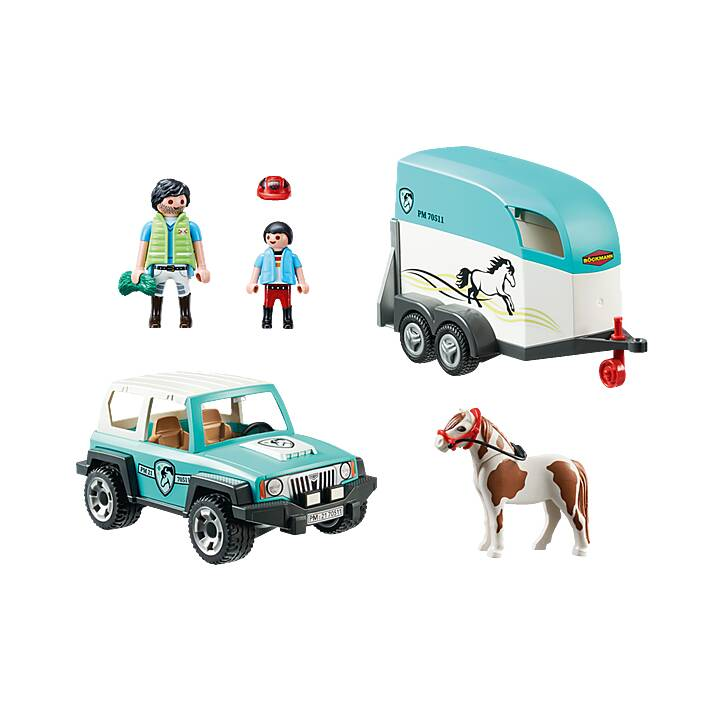 PLAYMOBIL Country Car with Pony Trailer (70511)