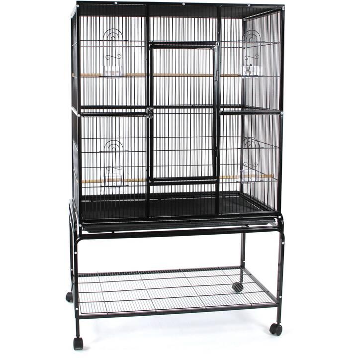 SWISSPET Cage pour oiseaux Panama Plus (58 cm x 95 cm x 158 cm)