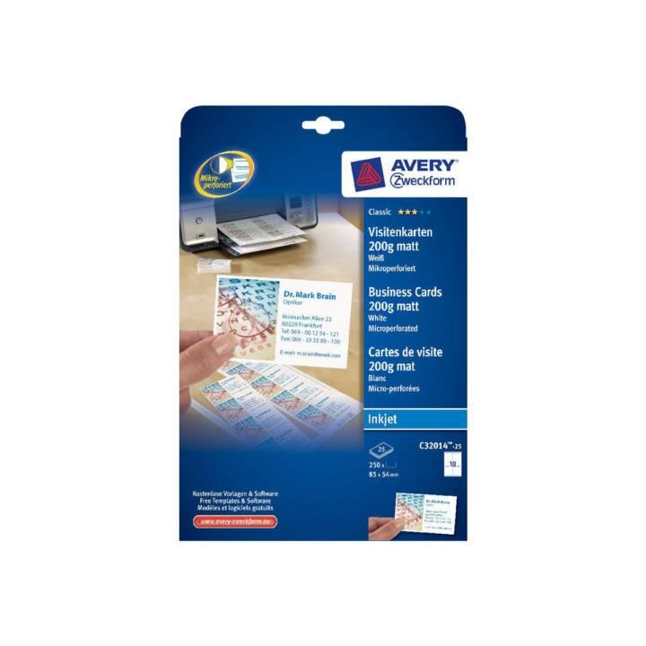 AVERY C32014 Cartes de visite 54 x 85 mm
