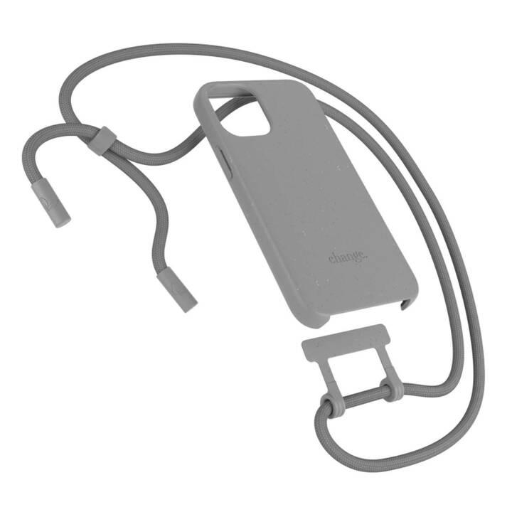 WOODCESSORIES Backcover avec cordon Change Case (iPhone 12 Pro Max, Antibactérien, Gris)
