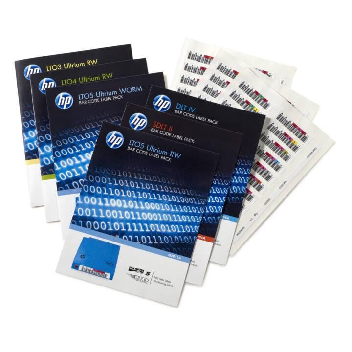 HPE Ultrium 4 RW Étiquettes de codes à barres