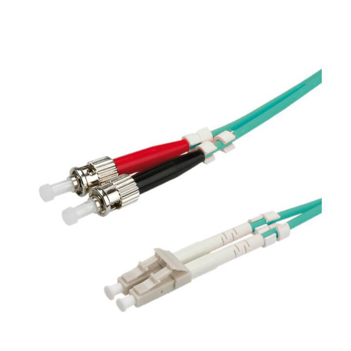 SECOMP Câble à fibre optique Roline - 10 m - Turquoise