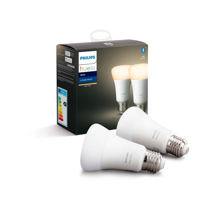 PHILIPS HUE Ampoule LED White BT (E27, ZigBee, Bluetooth, 9.5 W)