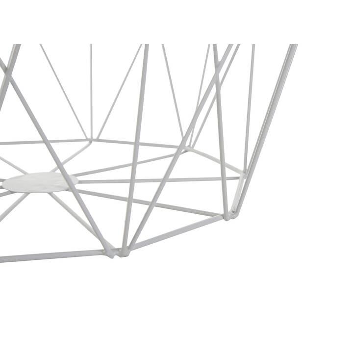 BELIANI Beistelltisch Elida (38 cm, Beige, Weiss)