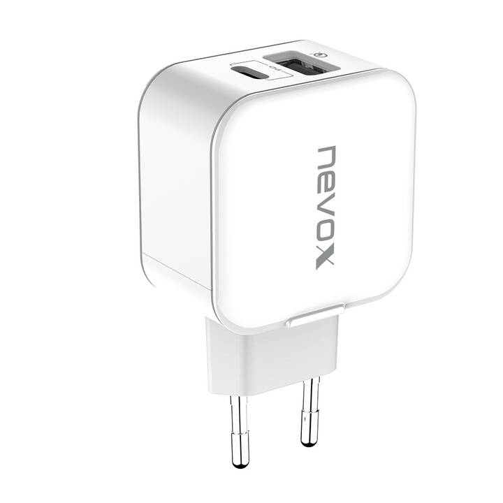 NEVOX Power Delivery + QC 3.0 Chargeur mural (3 A, 18 W)