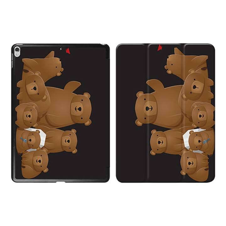 "EG iPad Sleeve pour Apple iPad Pro 10.5"" 10.5"" 10.5"" - ours noirs de dessin animé"