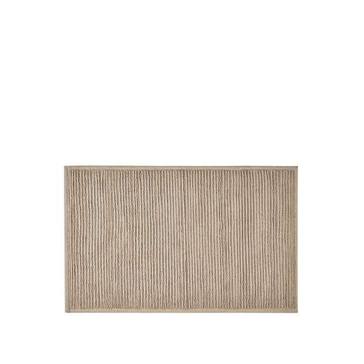 SÖDAHL Badteppich Plissé (50 cm x 80 cm, Beige)