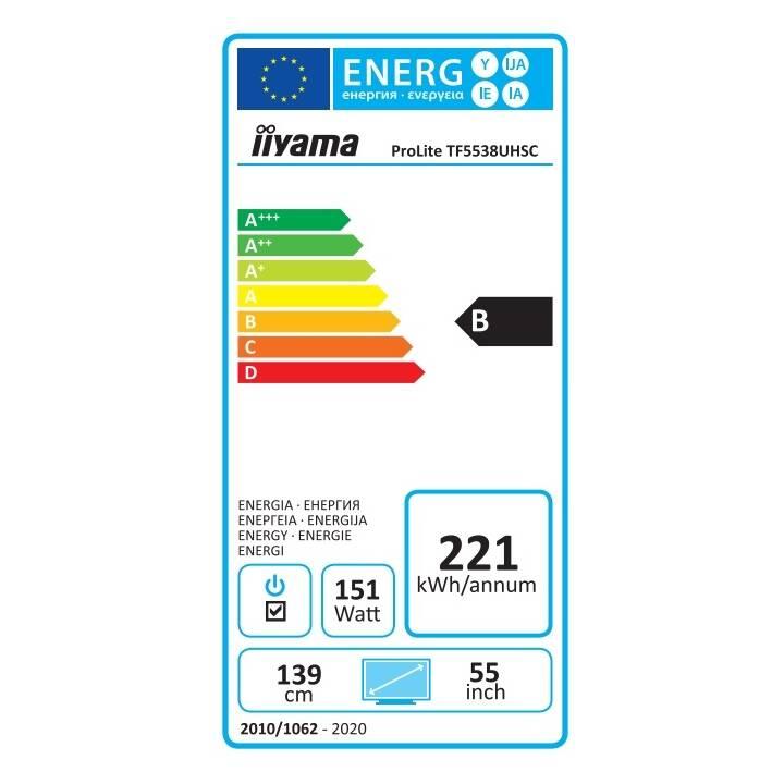 "IIYAMA ProLite TF5538UHSC-W2AG (55"", LCD)"
