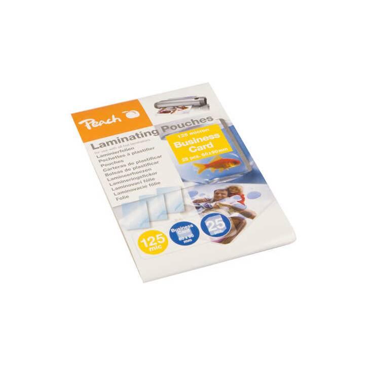 PEACH Laminierfolien Business Card, 125mic, glänzend