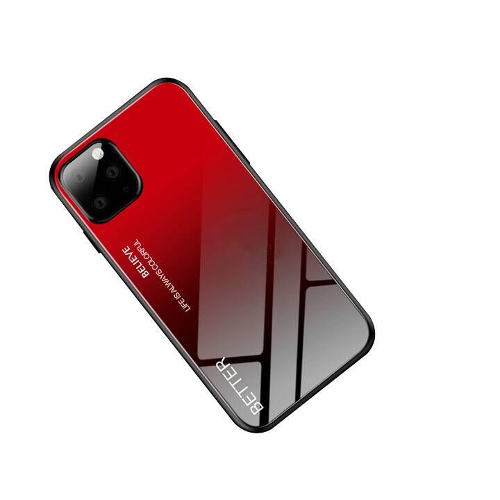 """EG Mornrise Hülle für Samsung Galaxy A81 6.8 """"2020 - Rot + Schwarz"""