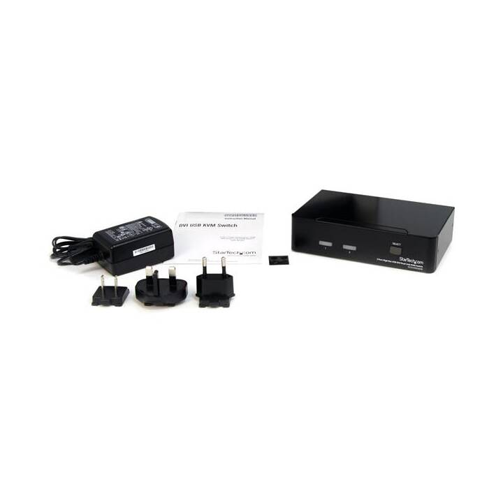 STARTECH.COM 2-Port Dual Link DVI / USB KVM Switch