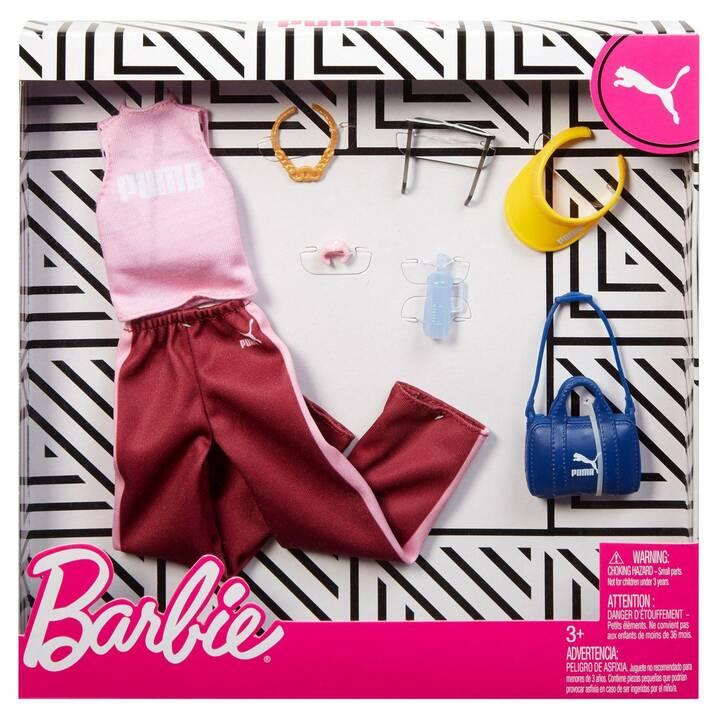 BARBIE Fashions Puma Habits de poupée (Rouge, Rose)