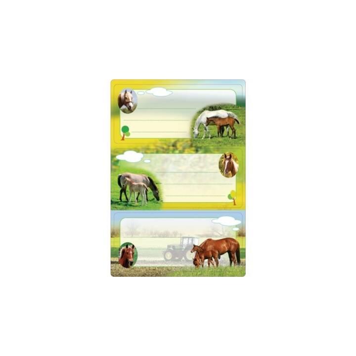 HERMA Schuletiketten Pferde, 6 Stück